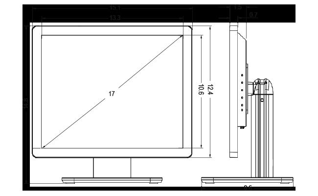 17-inch Desktop Touchscreen Dimensions