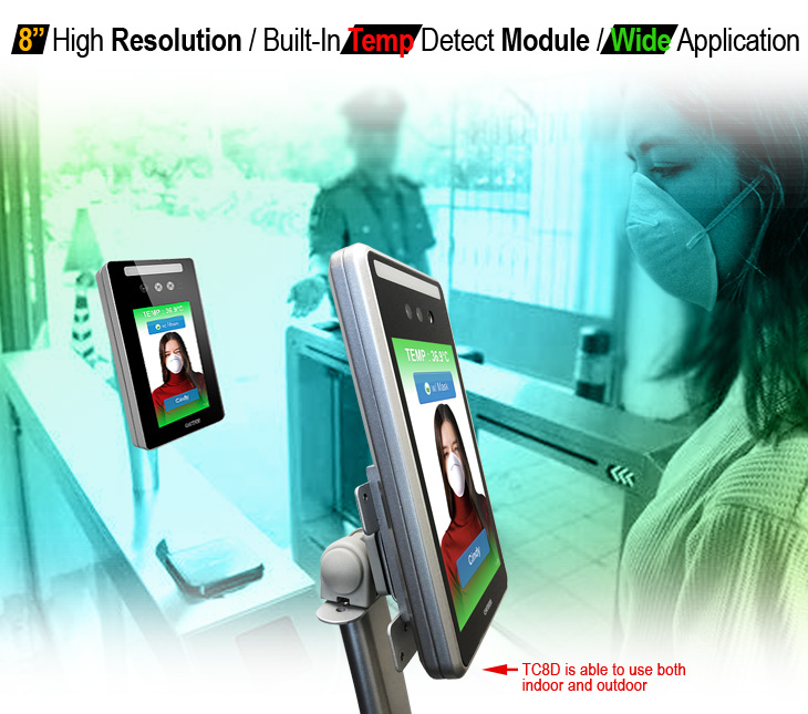 8-Inch High Resolution, Built-In Temp Detect Module, Wide Application