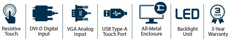 15-inch KIOSK Open Frame Touchscreen Monitor