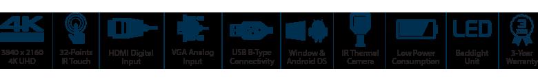 55-Inch 4K UHD Thermal Imaging Camera Display