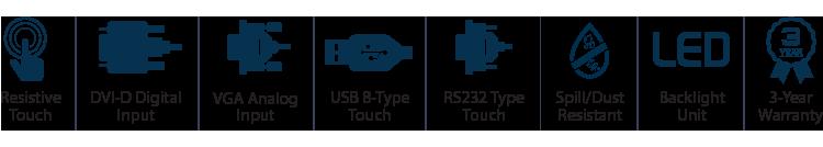 15-inch Desktop Touchscreen Monitor