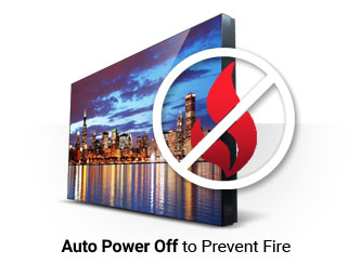 Video Wall Auto Power OFF to Prevent Fire
