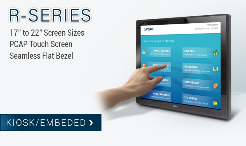 Open Frame Touch Screen Monitor - R-Series