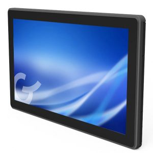 rear mounted projected capacitive touch screen
