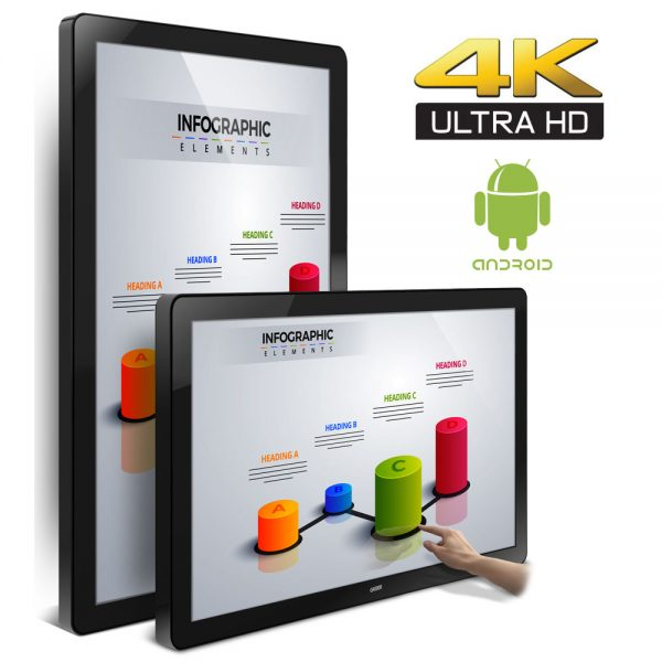 65-Inch Built-In ANDROID 4K UHD PCAP Touch Display